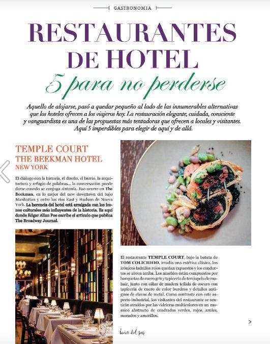5 restaurantes de hotel para elegir luego de la cuarentena