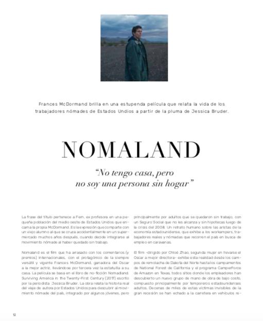 #Nomadland: el film que ha arrasado con los comentarios (y premios) internacionales